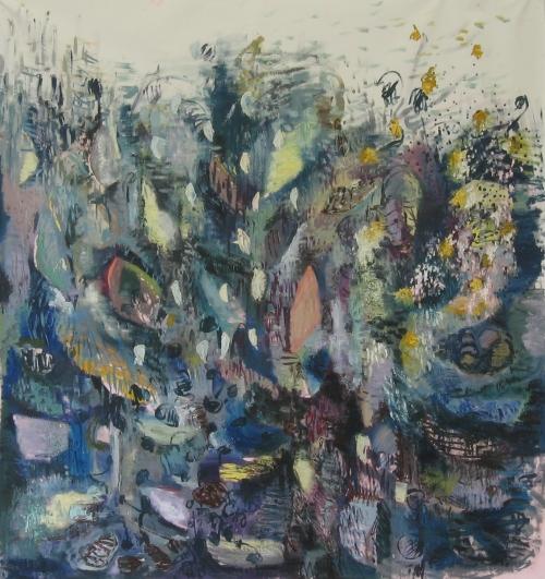2. ohne Titel, Öl auf Nessel,  200 x 200 cm