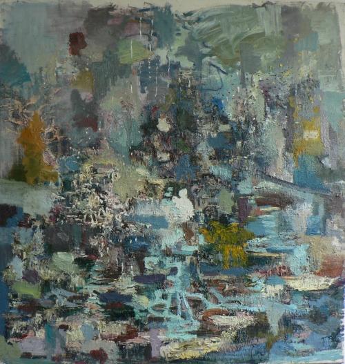 ohne Titel, 220 x 210 cm, Öl auf Leinen