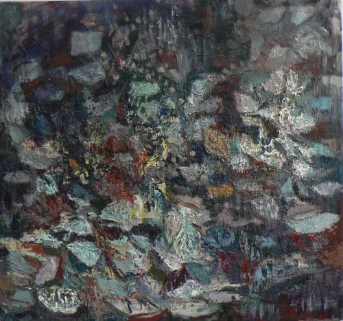 ohne Titel, 140 x 150 cm, Öl auf Leinen